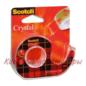 Клейкая лента Scotch Crystal Clearв диспенсере19 мм х 7,5 м